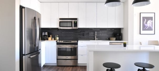 kitchen in new build house